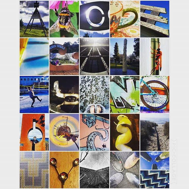 a collage of photos all of which mke the shape of a letter of the alphabet