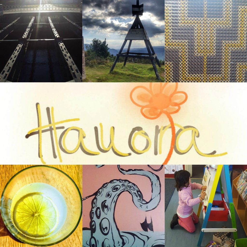 photos that spell the word 'Hauora""